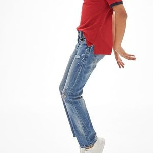GAP Kids Destructed Straight Jeans W/ Stretch NWOT
